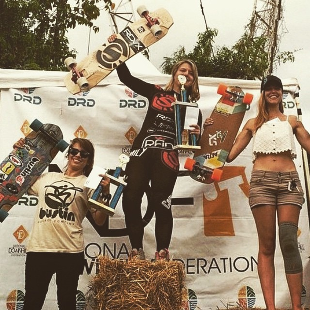 Lago Cerrillo Women Podium!  1. @emilylongboards  2. @spokywoky  3. @nayhomi27  Congrats to all the ladies racing, you killed it!  #longboardgirlscrew #girlswhoshred #puertorico #ponce #emilypross #spokywoky #nayhomicruz