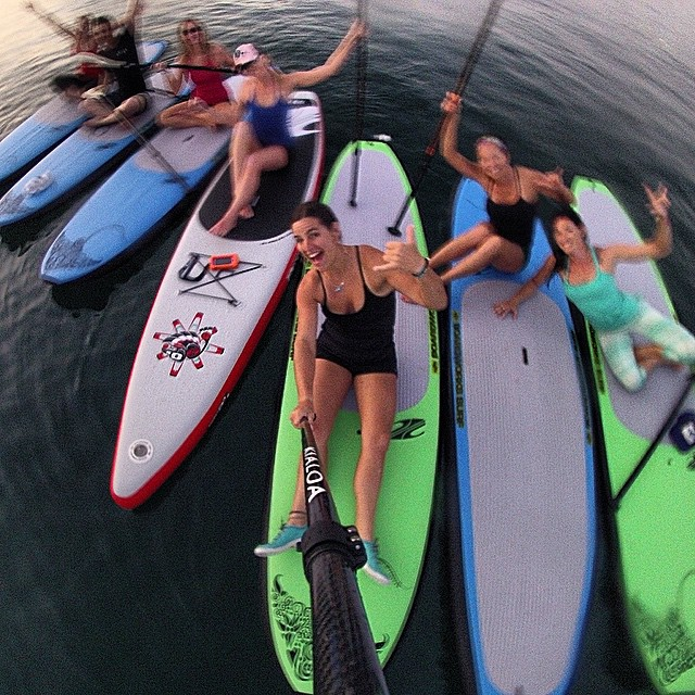 Such a fun #SUPyoga class with @waveofwellness at her #supandyogaexpeditionpuntamitamexico!