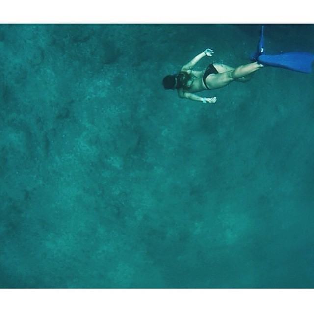 @chloevetterli in her element...the warm water of Mexico
