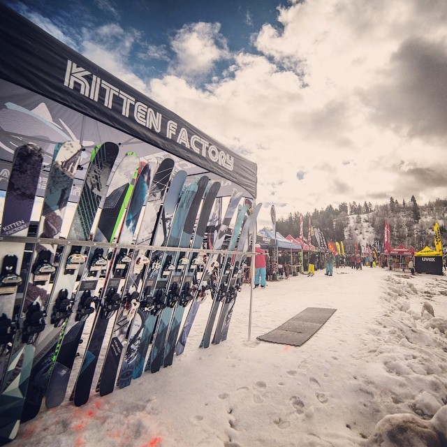 Out here at @snowbasin! If you're here for the demo come try out some skis! #swanky #kittenfactory #freekittens #snowbasin
