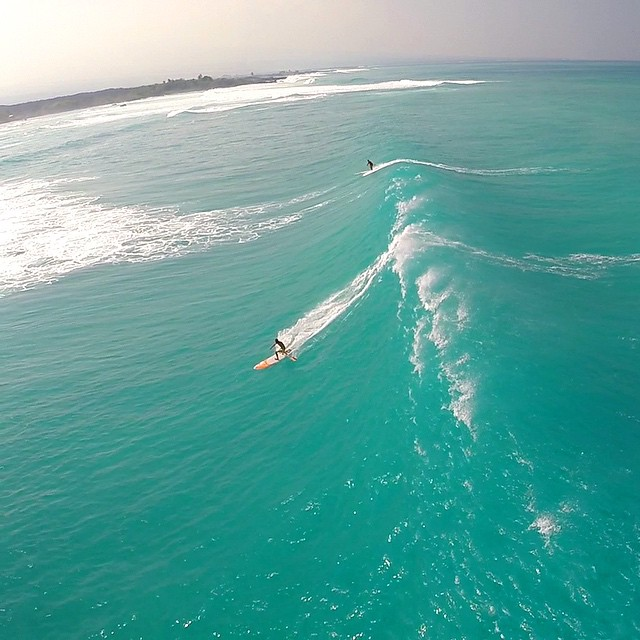 ..and this was a small one. #pumpingsurf captured by the remarkable @aerialgreg #drone #gopro #professional #itakebioastin #imaginesurf #odinasurf #npsurf #isurfiyoga #wiseguides #whenindoubtdontgoout