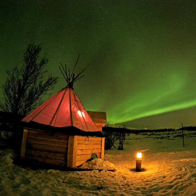 @2valley7 spends the night in Tromsø, Norway camping under the aurora borealis. GoPro HERO4 in Night Photo | GoPole Base #gopro #hero4 #gopole #gopolebase #auroraborealis #northernlights #norway