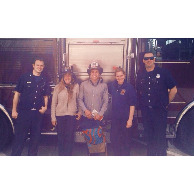 After giving a tour around #mafiahq to this amazing group of people . #water #firemen #sanfrancisco