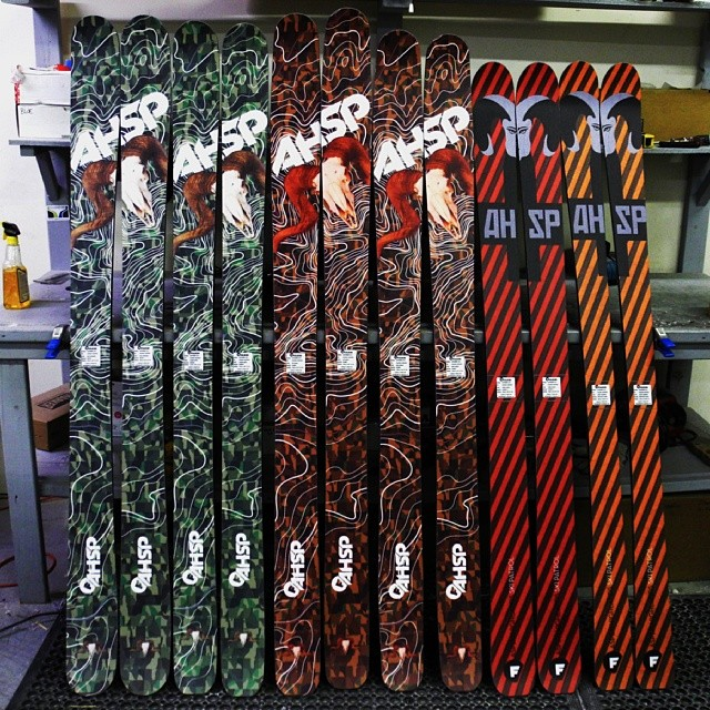 Big thanks to all @aspensnowmass  Highland patrollers! Pictured here are a few of the skis going out to them.