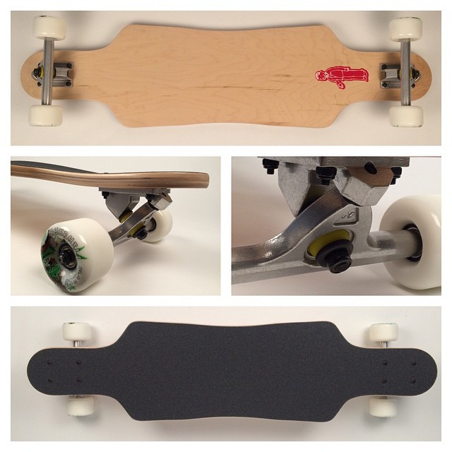 "37"" micro wedge drop #complete #longboard available now. #9ply #canadian #maple with a 27"" #wheelbase 160mm #rkp #trucks and 65mm #churchillmfg #narco #wheels #longboarding #concretewave #freeride #push #race #commuter #long #trek #love"
