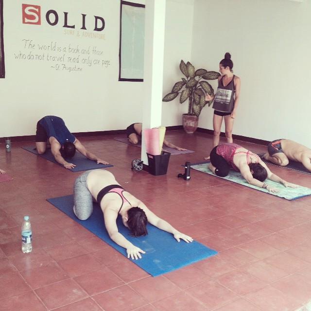 Yoga sessh before lunch!!