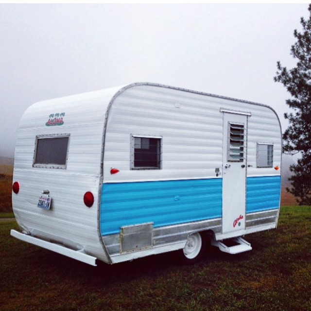 "Can't wait to get this cute little travel trailer on the road. Coming this spring we'll be traveling the west coast is our 1967 Vintage ""Aloha"" trailer.  If you would like to host a trunk show please email info:localhoneydesigns.com  #localhoneydesigns..."