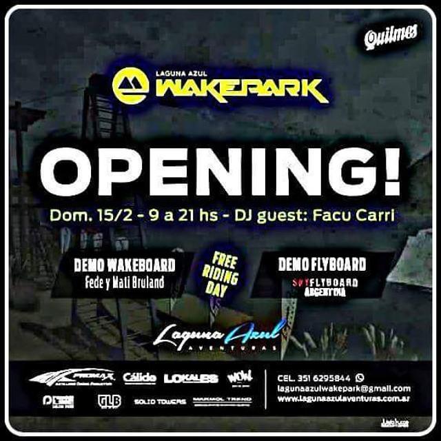 Como no vas a querer! Este domingo..... #WOW #Evento #Wake  Laguna Azul Wakepark en Cordoba