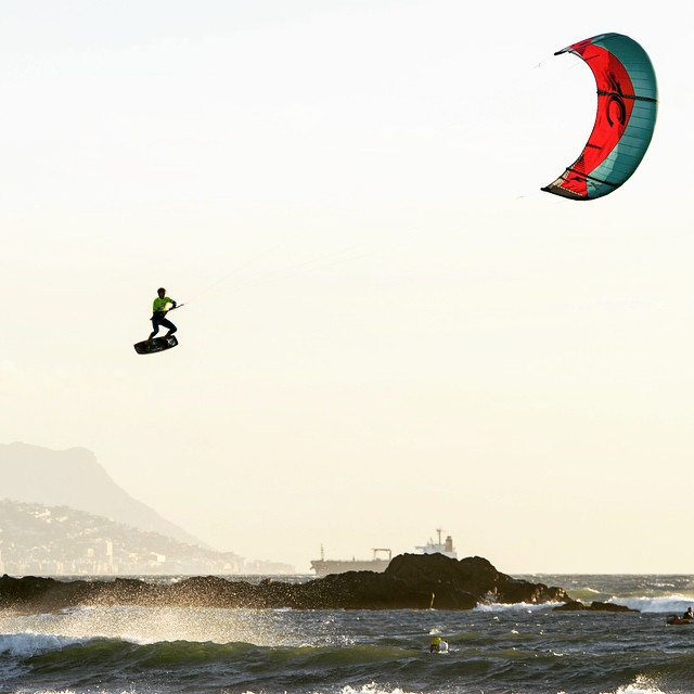 Riding high in South Africa. #kiteboarding #KingOfTheAir