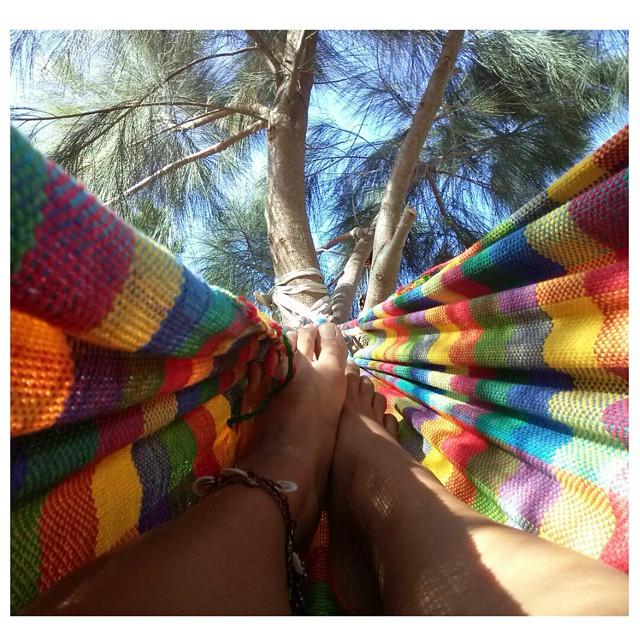 Momento sublime del día. #hamacaParaguaya #mate #paz #instamoment #amoreterno #loveit #NuevaAtlantis
