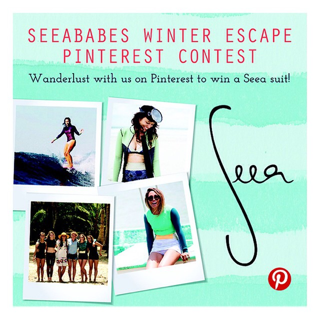 Only a few days left to enter our Winter Escape Pinterest! Show us your dream vacation on Pinterest and you could win one of the suits you pinned! Contest ends Saturday, Feb 15. Go to theseea.com for full info.