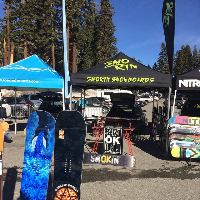 We are demoing boards all day today @mammothmountain , stop by chair 2 and come shred some of our new boards and @gbpgremlinz #smokinISforthekids #weareok #forridersbyriders #handmadelaketahoe