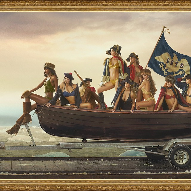 Here's more of the Sports Illustrated Washington Crossing the Delaware.  #siswimsuitedition #siswim #history #sexyhistory