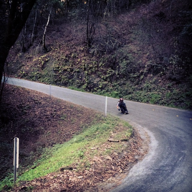 Team rider Adrian Da Kine--@adrian_da_kine rails a right!  #adriandakine #bonzing #downhill #California #skateeverything
