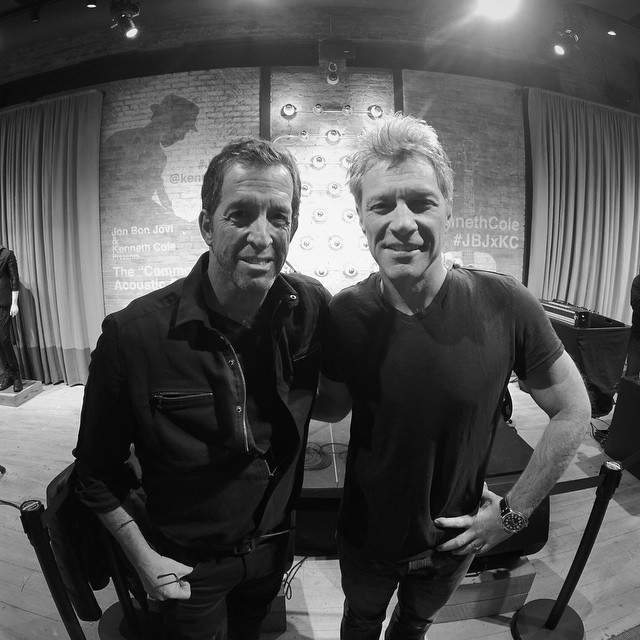 Behind the scenes at New York Fashion Week. @Mr_KennethCole and @bonjovi at the launch of the #JBJxKC campaign. Photo by @polaroidmisha. #NYFW #GoPro @KennethCole