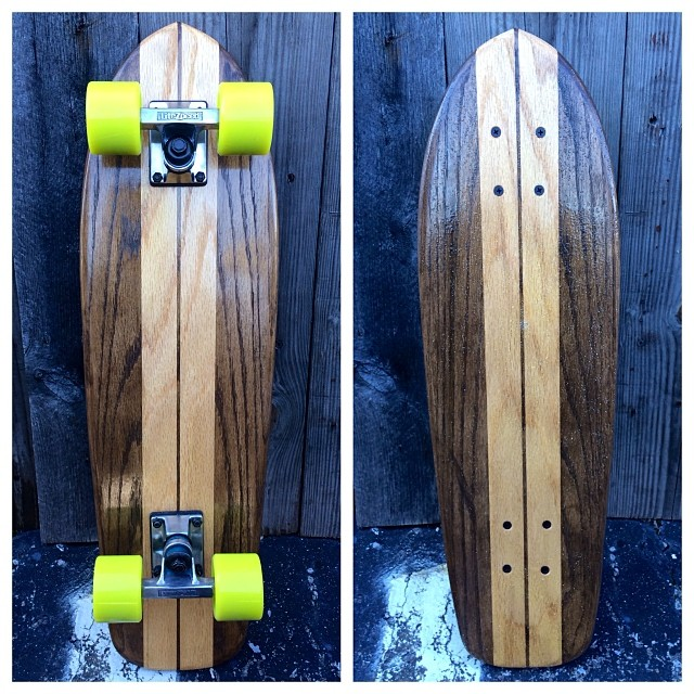 You can't go wrong with this classic cruiser still in time to get by Christmas! (natural and kona wood w lime wheels)