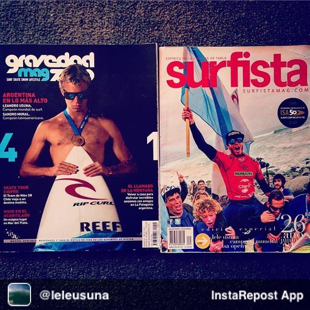 Repost from @leleusuna // feliz de terminar el 2014 con estas dos tapas del mundial ISA. Gracias a Gravedad zero y Surfista por la buena onda siempre. VAMOS ARENTINAAA!!!!!