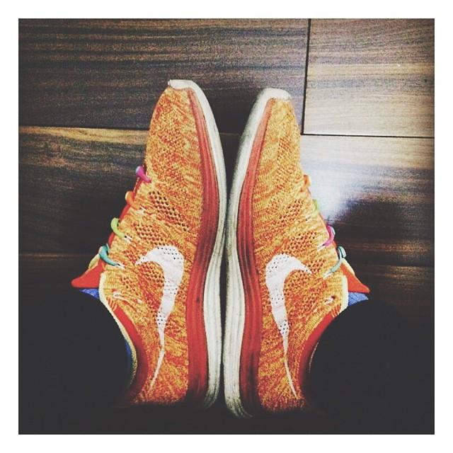 Flynit Fridays courtesy of @yeezylin. #lacesoutHICKIESin #flynit