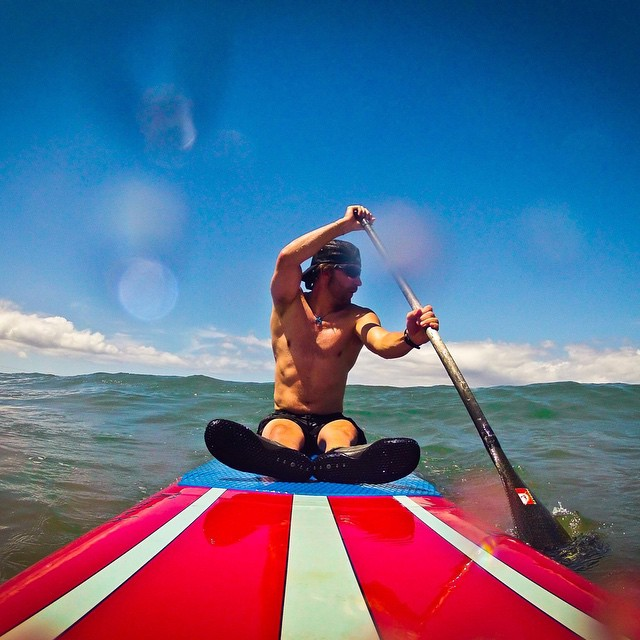 SUP stands for Sit Up Paddle boarding right?  High five to the #Laird | #HighFivesAthlete | @bigtruckbrand | #ChoosePositivityNow.com