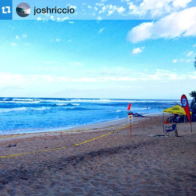 Repost from @joshriccio at Sunset beach. Good luck to all out riders today ・・・So stoked to make it into the main event from the trials at sunset yesterday, gonna be surfing in round 1 in heat 7, follow the action live on watermanleague.com #suwt...
