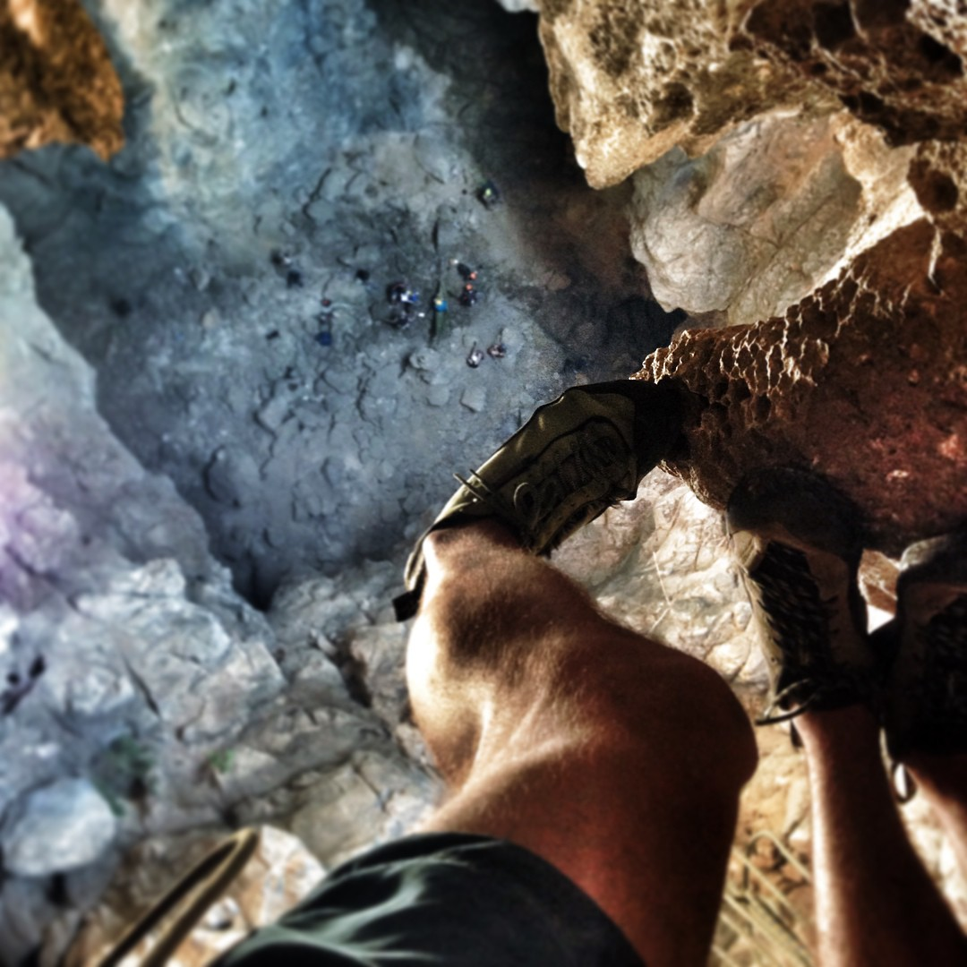 While rock climbing in #Thailand this winter, Dylan Jones is collecting samples for the #ASCmicroplastics project. Here's the bird's eye view as he hangs from a stalactite in the Tham Wiung Fah cavern.  #climbing #rockclimbing #adventurescience