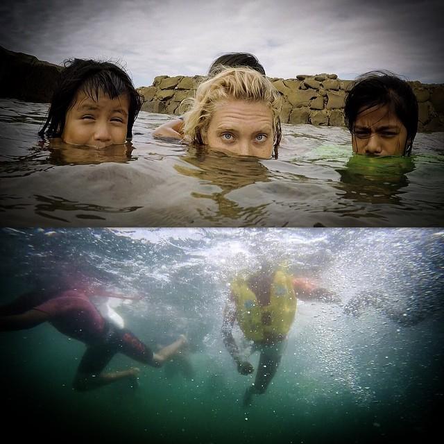 Sea Sisters del Mar /// @billabongwomens #wandermuch #girlpower #justkeepswimming #clubdechicas @gopro #peru #lobitos #lobitoscinemaproject #seamerise #serenas #coast2coast #lifesbetterinboardshorts