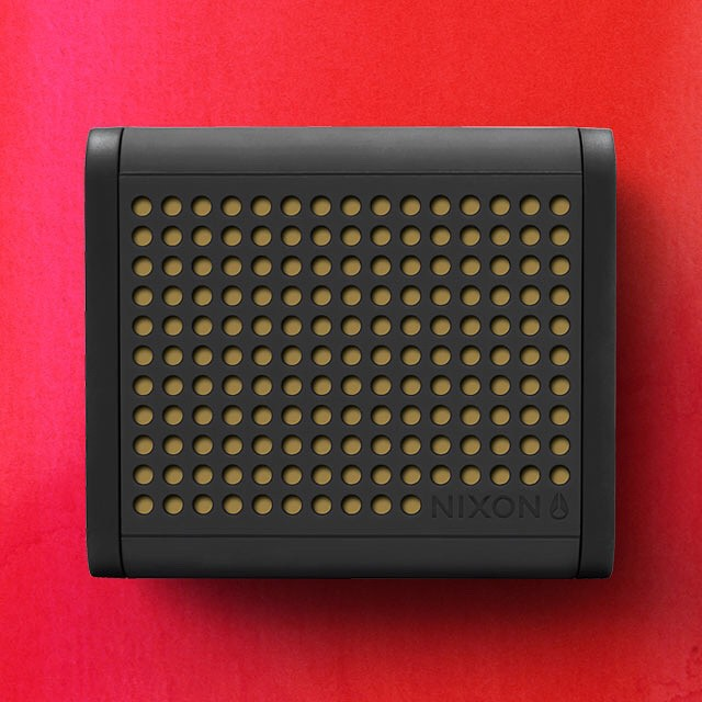 Be mine.  The Mini Blaster featured in the Nixon Valentine's Day Gift Guide.  Get gifting now with free shipping both ways on nixon.com (direct link in bio: @nixon_now). #miniblaster #nixonvdaygifts