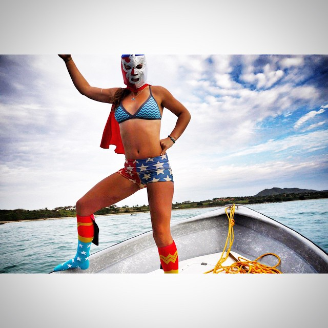 ⭐️Mexican Wonderwoman⭐️ #luchador #superhero @waveofwellness #supandyogaexpeditionpuntamitamexico