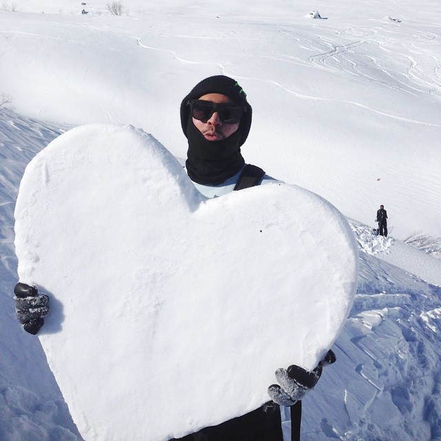 Happy Valentine's Day from the man himself, @yomanueldiaz // Manuel was featured riding in @absinthefilms which recently won Movie of the Year by @snowboardermag! Find more about Manuel Diaz on our Team Riders Page at iwantproof.com!  Don't forget...