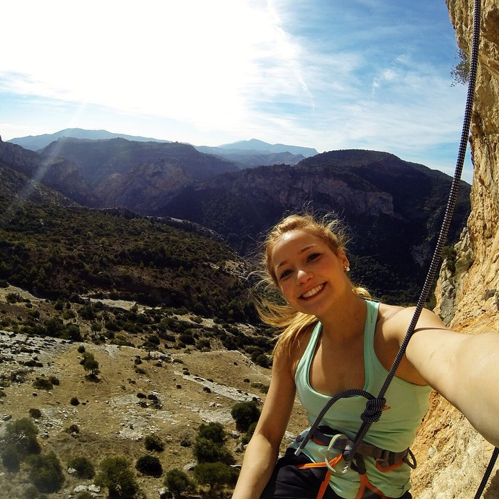 Do you have what it takes to #BeSashasHERO? Sport climbing world champion @SashaDigiulian is giving away a GoPro and other awesome gear! Head over to her page for more info.
