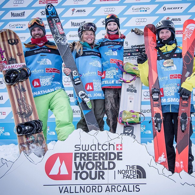 Shout out to our good friend @hazelbirnbaum in Europe. She just got 1st place for skiing at the third stop on the Freeride World Tour. Keep it up! #meyerspride