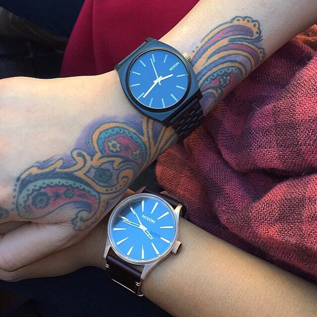 Happy Valentine's Day and thanks to everyone who's sharing the Nixon love.  The Time Teller and The Sentry Leather tagged #nixon by @heyits_rhee.  Do you have The Time Teller or The Sentry Leather? Tag yours #nixon to be featured, too. #thetimeteller...