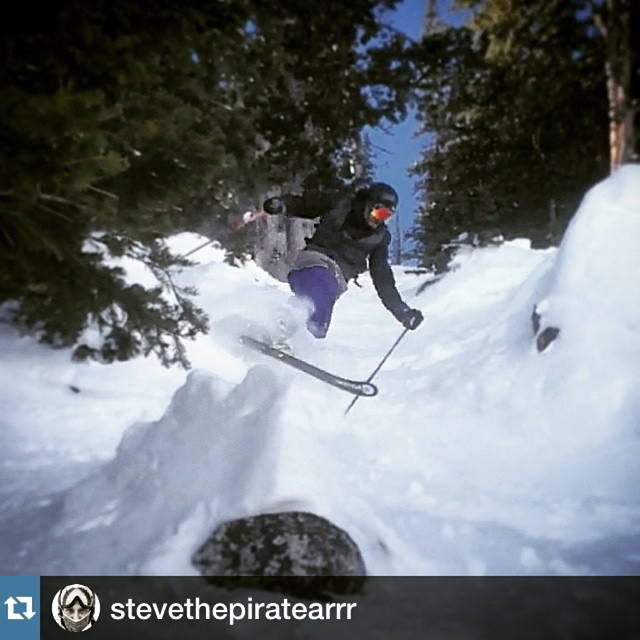 #Repost @stevethepiratearrr our one-legged superstar gettin' it done in @jacksonhole with @repostapp. I wish I could ski that well with one leg!!
