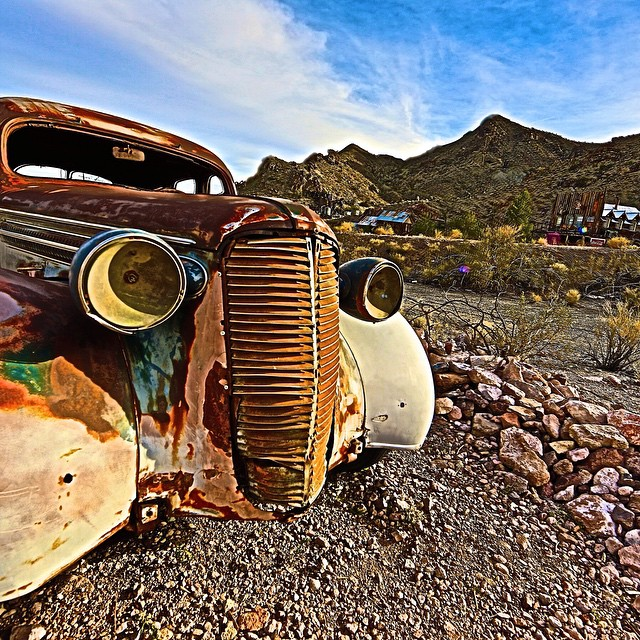 Photo of the Day! Ghost Town outside of Las Vegas, Nevada. Photo by Barbara von Traumer.