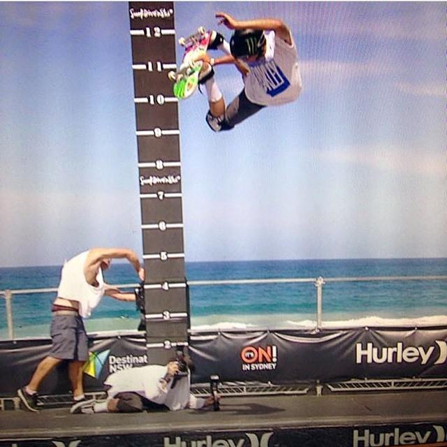 @austin_poynter won 2nd in the highest air in #manly #hurleycontest Austin wears the S1 Lifer Helmet . #bigair #skateboarding ##s1helmets