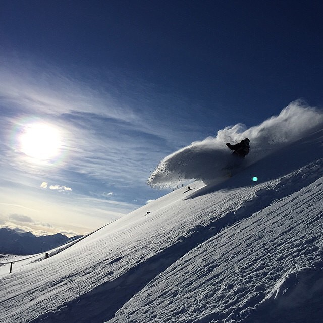 Making waves.  @cherylmaas throwing buckets in Austria. P: @hibeams