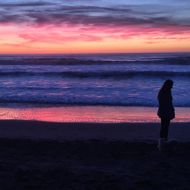 Purple haze, know what I'm sayin? #cheechandchong #sanfrancisco #oceanbeach #california #sunset