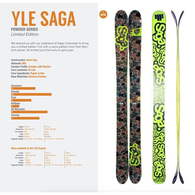 We promised details and here they are. The YLE colab with @sagaouterwear. Want a pair?  #shapingskiing
