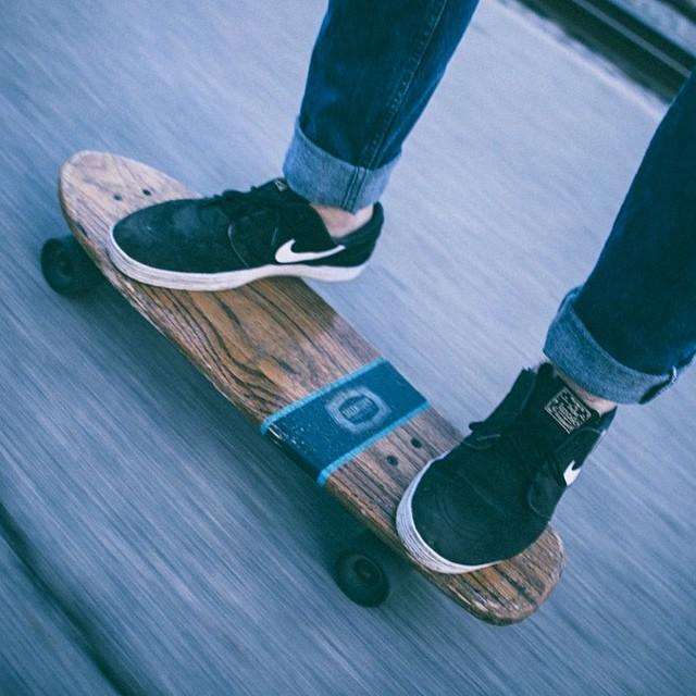 Snow Day in #Nashville! Photo @plriley #Skate #handmadeskateboard #handmade