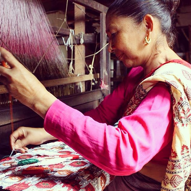 Our Dhaka is handwoven by women in Western Nepal, where the craft first originated. Before machine looms and outsourced labor took a toll on the flourishing of this factory they were the supplier of Dhaka fabric to make caps for the men of Nepal's...