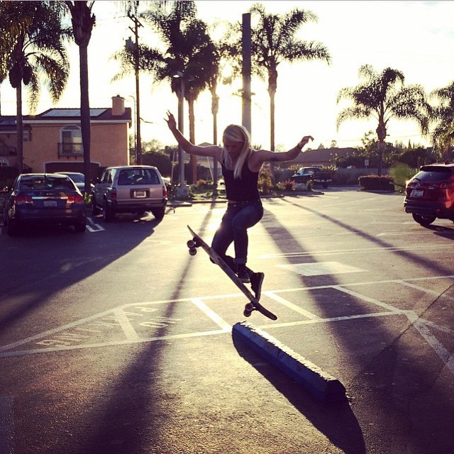 Repost from @amandapowellskate. Never comply somewhere in California. @danewebber photo.  #longboardgirlscrew #girlswhoshred #amandapowell