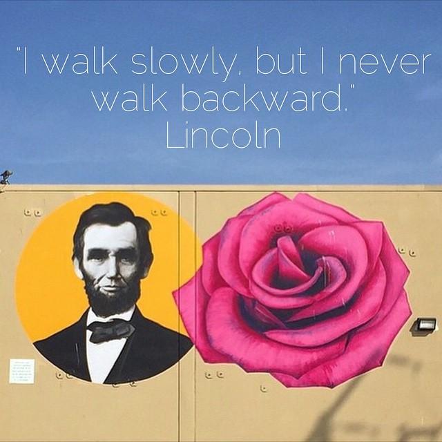 Happy #PresidentsDay!#lincolnandrose #venicebeach #artscene #streetart #inspiring #mondaymotivation #lincoln