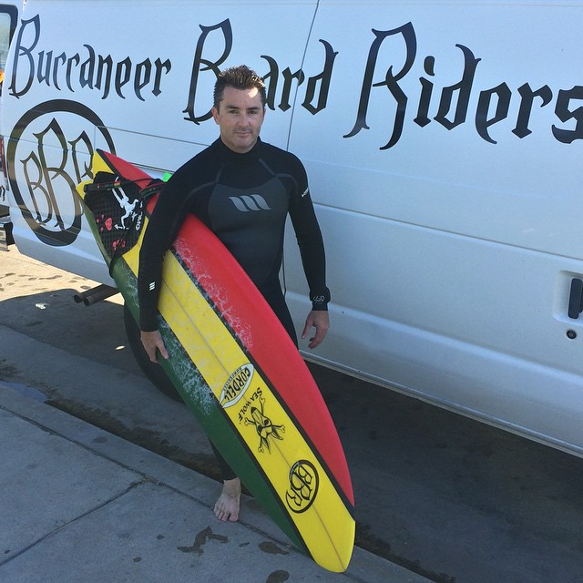 Quick visit from my Mate from Australia.  We'll miss you Baz. Stoked we got in the water. Look out for those demons lurking about. #bbr #buccaneerboardriders #baz #australia #surf #demons
