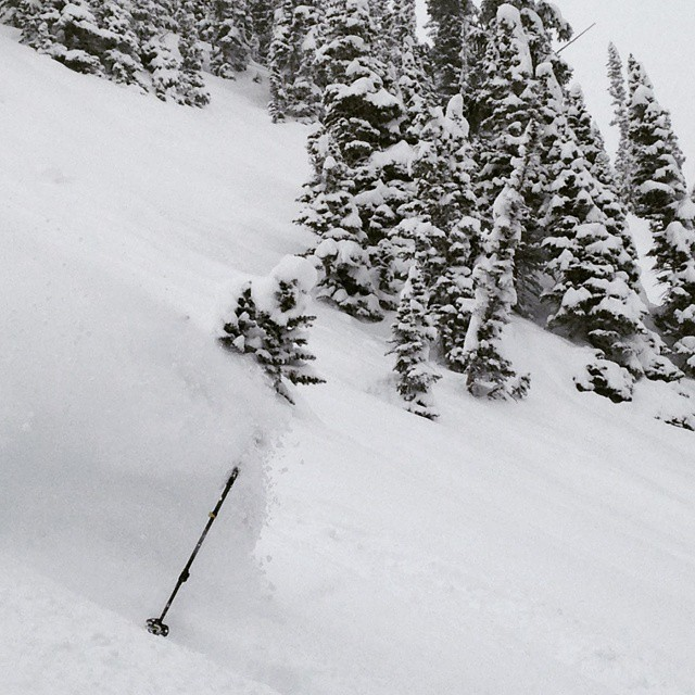 Snow is currently deep on the Front Range.  Photo: D. Vander Wall yesterday near the Moffat Tunnel