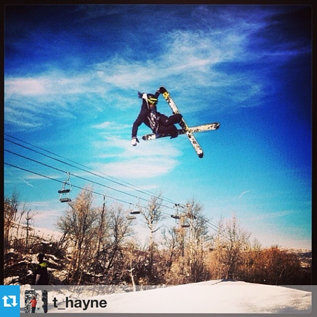 4FRNT Am Thayne Rich throwing it down at PC on The Devastator. #goskiing #riderowned @t_hayne