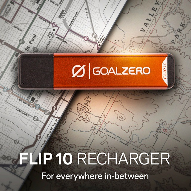 We're proud to introduce the Flip 10 Recharger! From the street to the trail and everywhere in-between, the Flip 10 will keep you powered. Follow the link in our profile to get yours! #GetOutStayOut