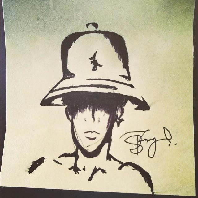 Post-It Note Artwork by @blackadonadonis