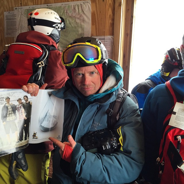 This morning at the top of Big Sky, an incredible article by @skiingrogge that was featured in @powdermagazine was out on the table for @johnnystifter and @instantkc randomly, thanks to these three men for getting this article written, published and...