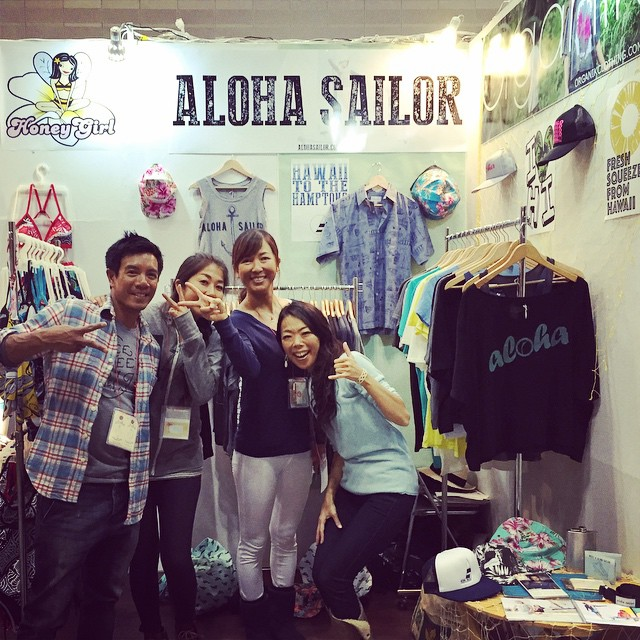 Our friend #chiyotia visited us today at #interstyle. #Konichiwa #organik #alohafromjapan