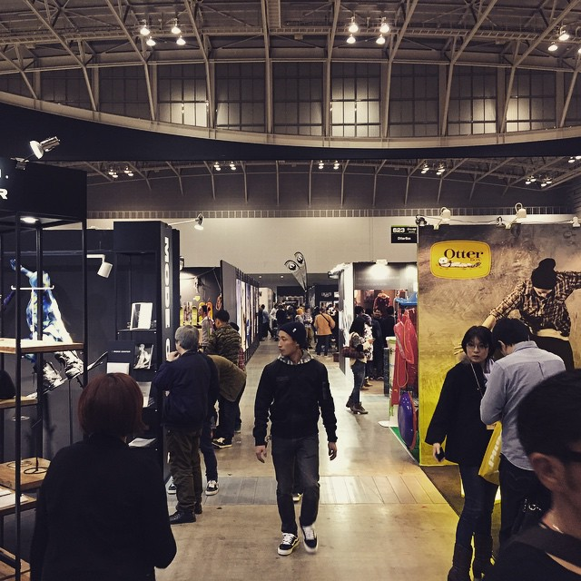 It's busy at #interstyle #tradeshow #actionsports #beach #surf #snowboarding #skateboard #actionsports #alohafromjapan #organik